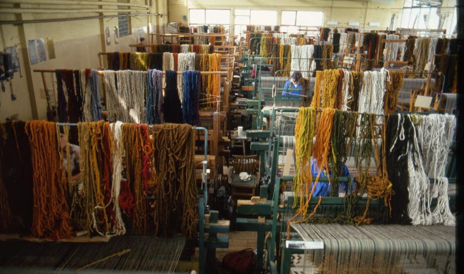 Foto laboratorio di tessitura
